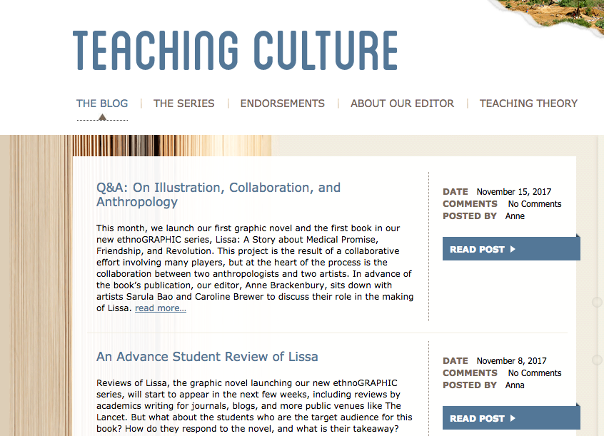 Blog on Teaching Culture